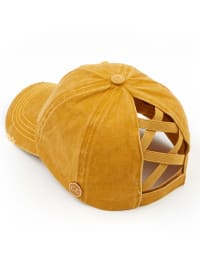 CC® Mask Compatible Criss Cross Cap - Mustard - Back