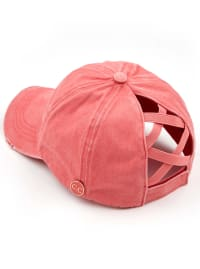 CC® Mask Compatible Criss Cross Cap - Coral - Back