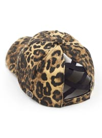 CC® Mask Compatible Criss Cross Cap - Leopard - Back