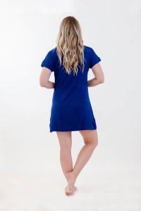 One Spirit Short Sleeve Shirt Dress - Ballad Blue - Back