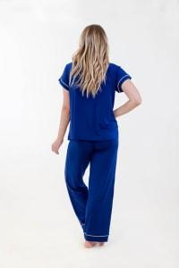 One Spirit Short Sleeve Pajama Set - Navy - Back