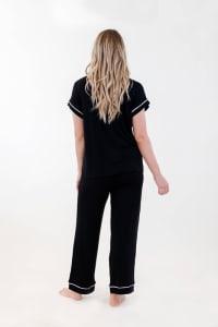 One Spirit Short Sleeve Pajama Set - Black - Back