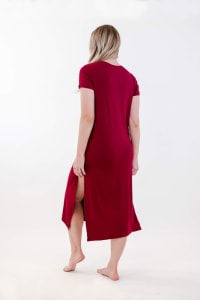 One Spirit Side Slit Long Dress - Rumba Red - Back