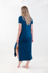 One Spirit Side Slit Long Dress - Blueprint - Back