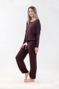 One Spirit Slouchy Pajama Set - Puce - Back
