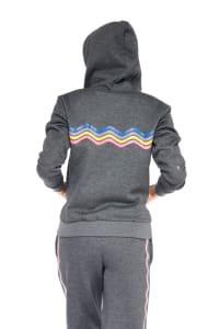 Rainbow Hoodie - Charcoal - Back