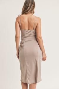 Kelli Ruched Dress - Coco - Back
