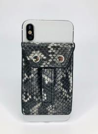 Phone Flipper Wallet - Grey Python - Back
