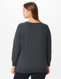 DB Sunday Party Sequin French Terry Sweatshirt - Plus - Dark Grey - Back