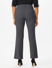 Roz & Ali  Secret Agent  Trouser With Cateye  Pocket  & Zipper - Grey - Back