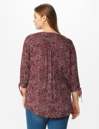 Westport Bohemian Pintuck Popover - Plus - Red - Back