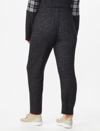 DB Sunday Hacci Jogger Pant - Plus - Black Heather - Back