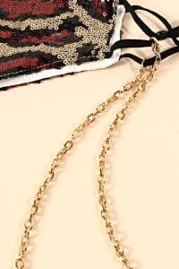 Chain Linked Mask Lanyards - Back