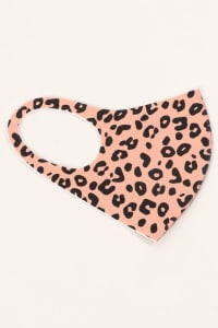 Leopard Print Anti-bacterial Washable Face Mask - Back