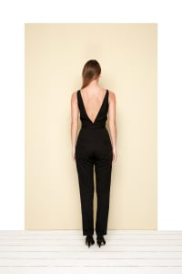 Calipso V-neckline Jumpsuit - Black - Back