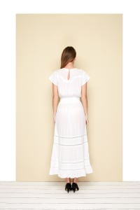 Lio Dress - Plus - White - Back