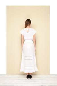 Ankle length Lio Dress - Plus - White - Back