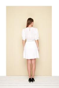 Lire Mini Dress - Plus - White - Back
