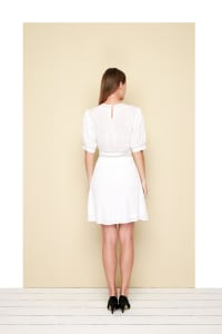 Lire Dress - White - Back