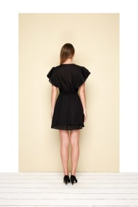 Organza Dress - Plus - Black - Back