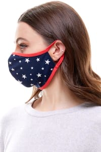 Double Layered Printed Cloth Fabric Reusable Face Masks - Star - Back