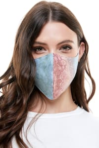 Reversible Face Mask Cloth Fabric Reusable Face Masks - Snake - Back