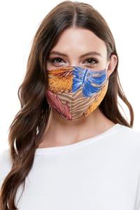 Reversible Face Mask Cloth Fabric Reusable Face Masks - Multi Tropical - Back
