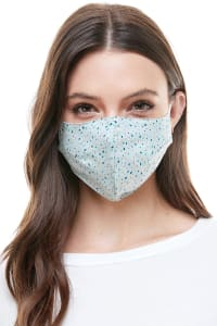 Reversible Face Mask Cloth Fabric Reusable Face Masks - Small Geo - Back