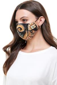 Reversible Face Mask Cloth Fabric Reusable Face Masks - Paisley - Back