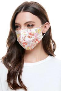 Reversible Face Mask Cloth Fabric Reusable Face Masks - Bouquet Flower - Back