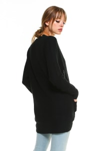Sweater Essential Cardigan - BLack - Back