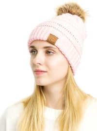 Popular CC Chic Pom Pom Beanie - Pink - Back