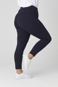 Tummy Control Leggings - Plus - Navy - Back