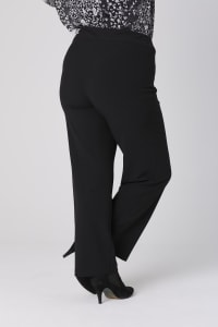 Roz & Ali Secret Agent Tummy Control Pull On Pants - Average Length-Plus - Black - Back