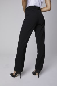 Roz & Ali Secret Agent Tummy Control Pants Cateye Rivets - Average Length - Black - Back