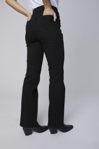 Westport Signature 5 Pocket Bootcut Jean - Black - Back