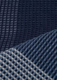Indigo Acrylic Woven Throw - Indigo - Back