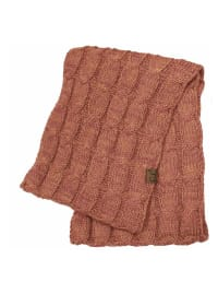 C.C® Two-Tone Multi Color Scarf - Brick Red - Back