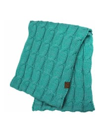 C.C® Two-Tone Multi Color Scarf - Cyan - Back
