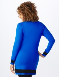 Roz & Ali Colorblock Duster Cardigan - Misses - Masquerade Blue/Black - Back
