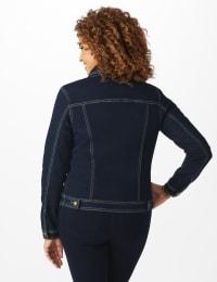 Westport Stretch Denim Button Front Jean Jacket - Back