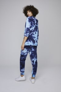 Tie Dye French Terry Jogger Pants - Navy - Back