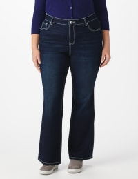 Plus Westport Signature  5 Pocket Bootcut Jean with Chevron Pattern Bling Back Pocket - Plus - Back
