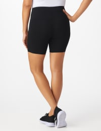 Tummy Control Bike Short - Black - Back