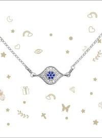 Evil Eye Necklace - Sterling Silver - Back