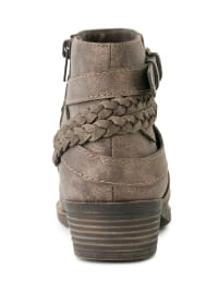 Tick Tock Braided Ankle Booties - Back