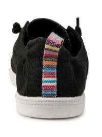 Genius Lace Up Sneaker - Black Fine Canvas - Back
