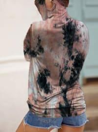 """Never Forget Your Mask"" Tye Dye Print Fashion Top - Black/Pink - Back"