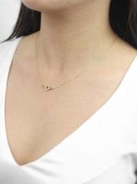 Evil Eye Necklace - Gold - Gold - Back