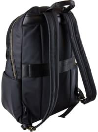 Ellen Tracy Nylon Zippered Workbook Backpack - Black - Back